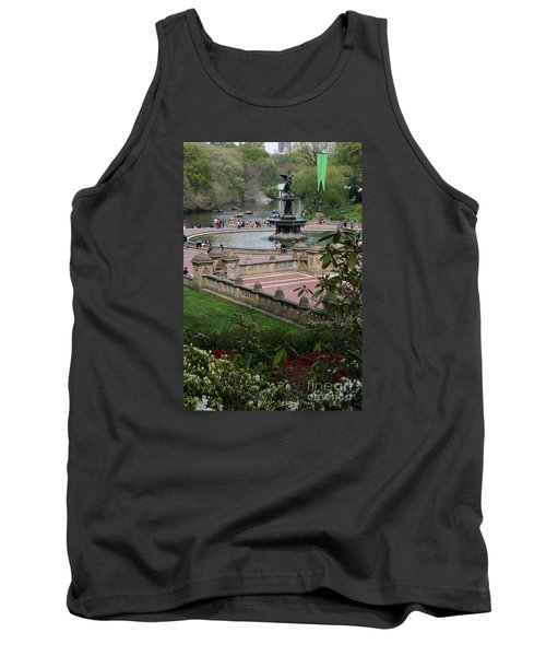 Bethesda Fountain - Central Park Nyc Tank Top by Christiane Schulze Art And Photography