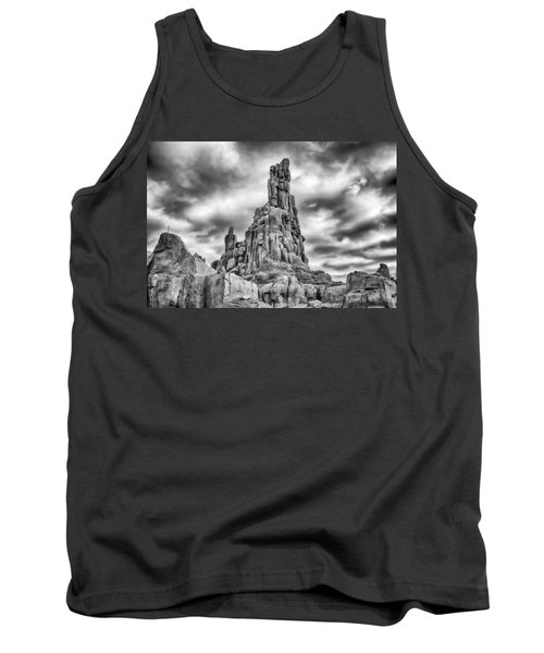 Tank Top featuring the photograph Big Thunder Mountain Railroad by Howard Salmon