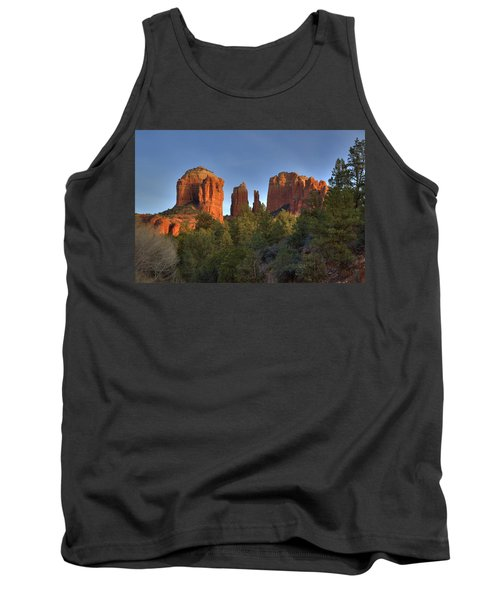 Tank Top featuring the photograph Cathedral Rocks In Sedona by Alan Vance Ley