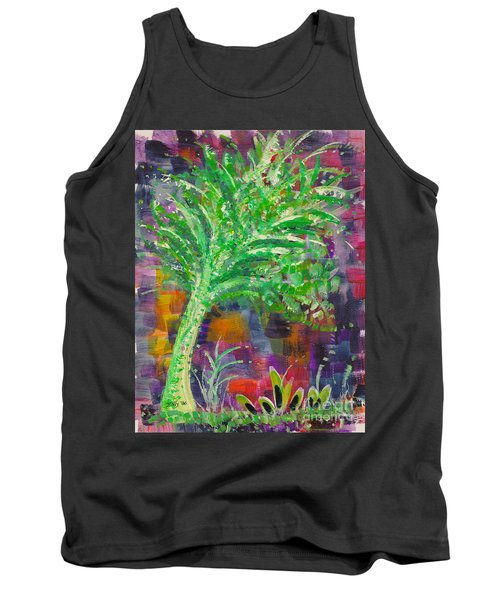 Tank Top featuring the painting Celery Tree by Holly Carmichael