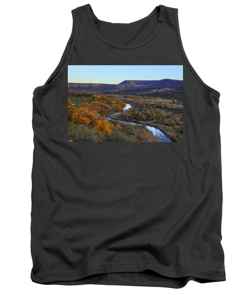 Chama River At Sunset Tank Top by Alan Vance Ley