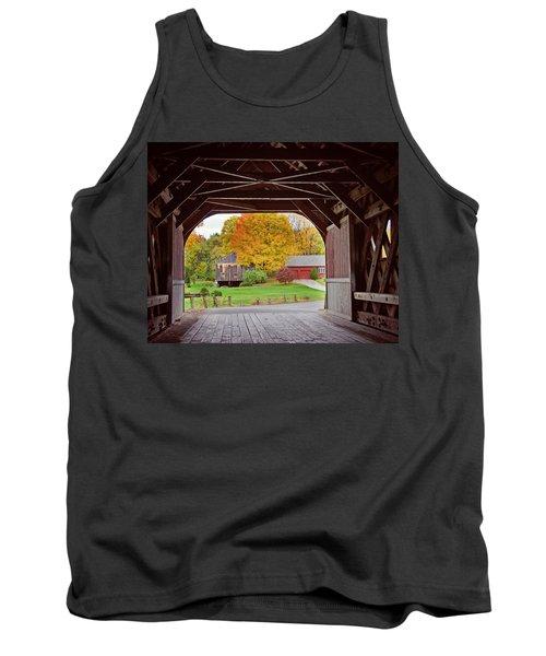 Covered Bridge In Autumn Tank Top
