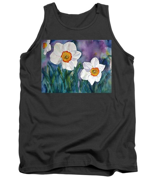 Tank Top featuring the painting Daffodil Dream by Anna Ruzsan