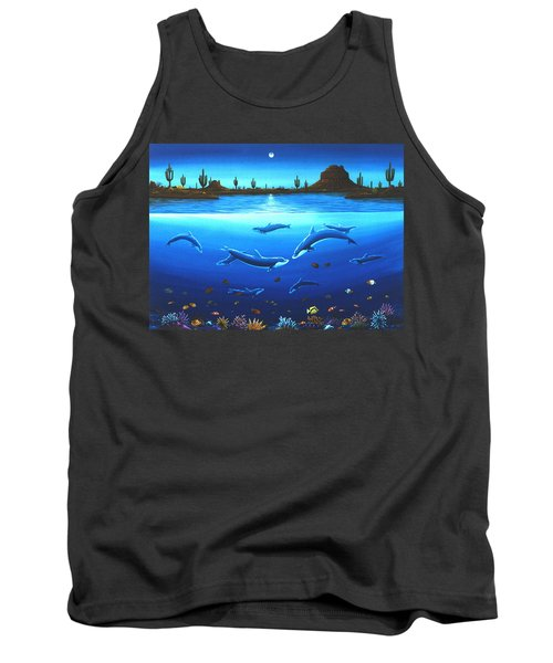 Desert Dolphins Tank Top by Lance Headlee