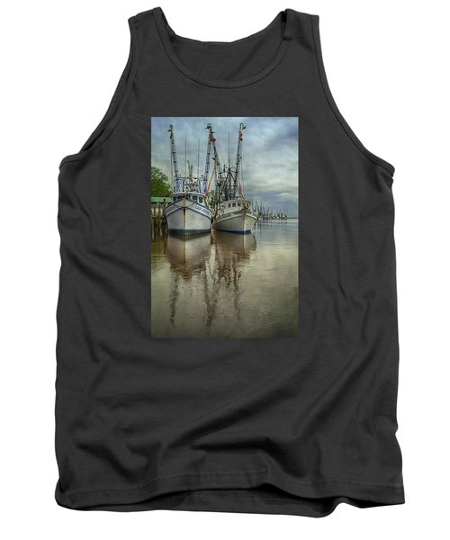 Tank Top featuring the photograph Docked by Priscilla Burgers