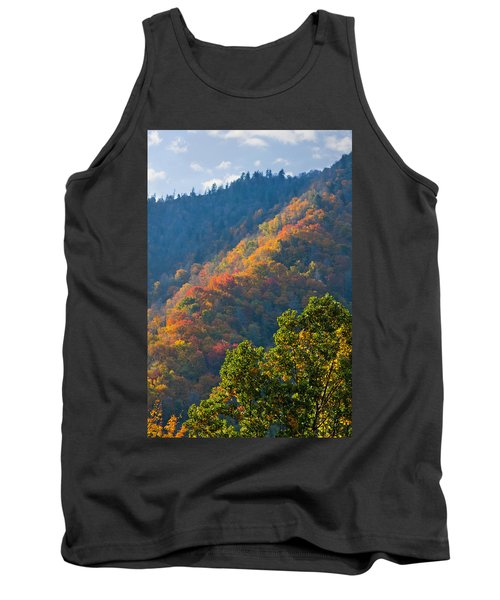Fall Smoky Mountains Tank Top by Melinda Fawver