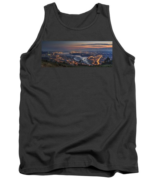 Ferrol's Ria Panorama From Mount Ancos Galicia Spain Tank Top by Pablo Avanzini