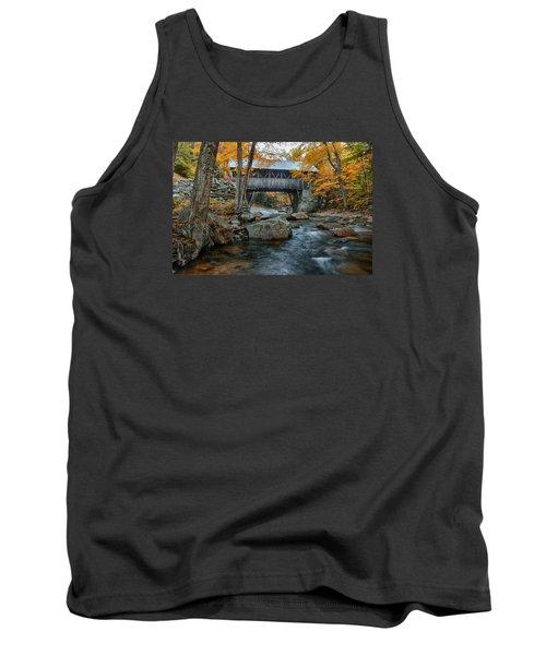 Flume Gorge Covered Bridge Tank Top by Jeff Folger