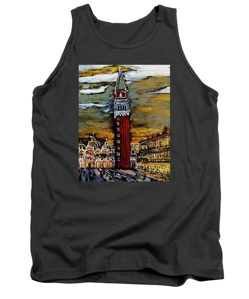 Tank Top featuring the painting Golden Venice by Jasna Gopic