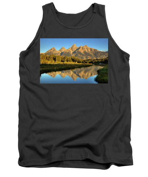 Tank Top featuring the photograph Grand Teton by Alan Vance Ley