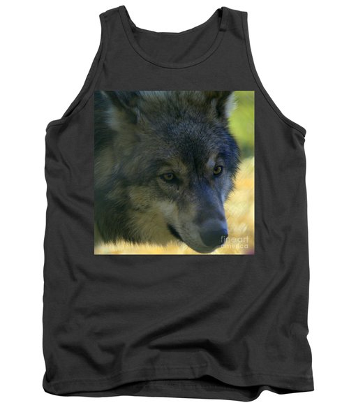 Gray Wolf Tank Top by Neal Eslinger