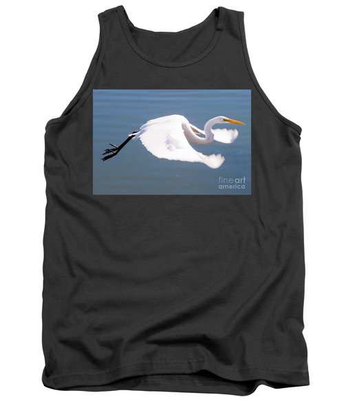 Great Egret In Flight Tank Top