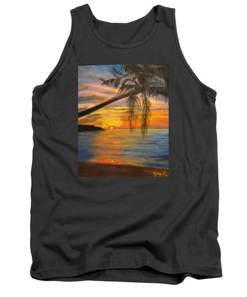 Tank Top featuring the painting Hawaiian Sunset 11 by Jenny Lee