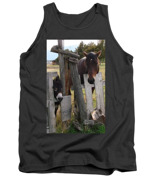 Tank Top featuring the photograph Horsing Around by Athena Mckinzie