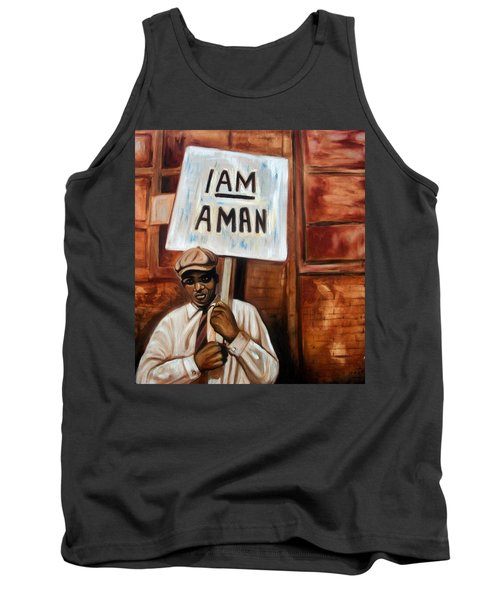 Tank Top featuring the painting I Am A Man by Emery Franklin