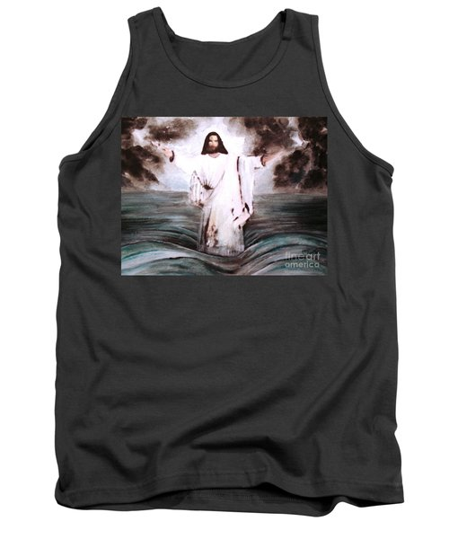 Tank Top featuring the painting I Am by Hazel Holland