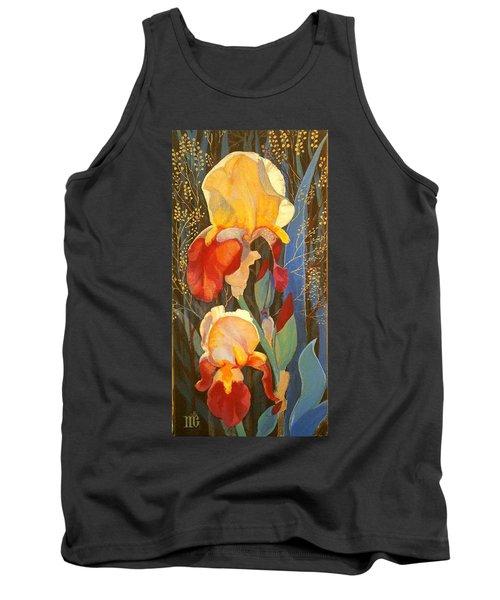 Irises Tank Top by Marina Gnetetsky