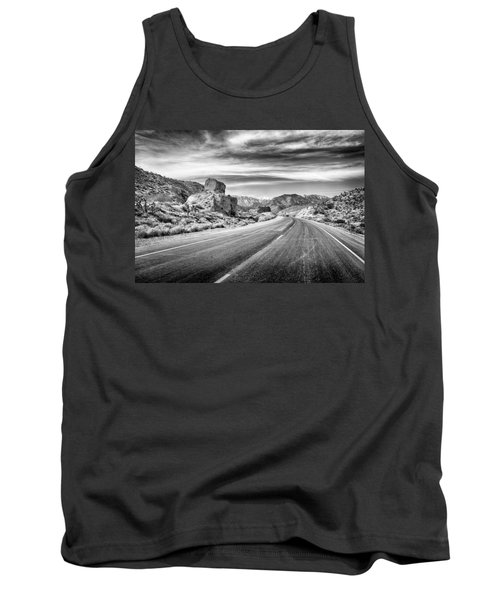 Tank Top featuring the photograph Kyle Canyon Road by Howard Salmon