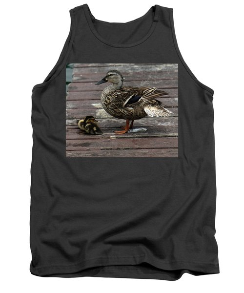 Mama Duck And Ducklings Tank Top by Pamela Walton