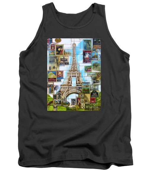 Tank Top featuring the painting Memories Of Paris by Joseph Sonday