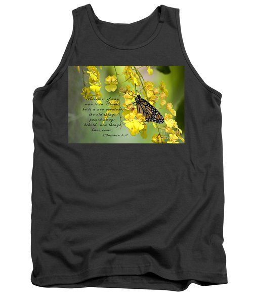 Monarch Butterfly With Scripture Tank Top