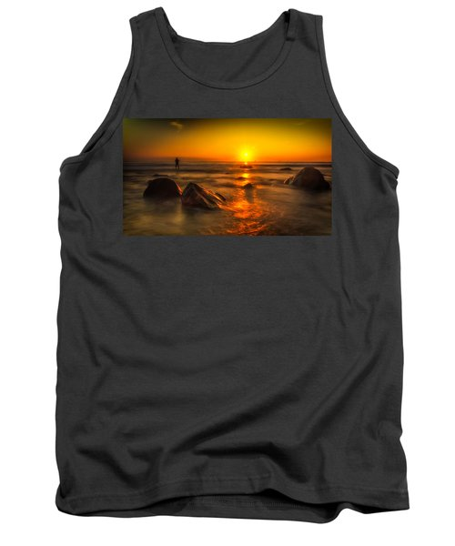 Montauk New York Summer Sunrise Tank Top