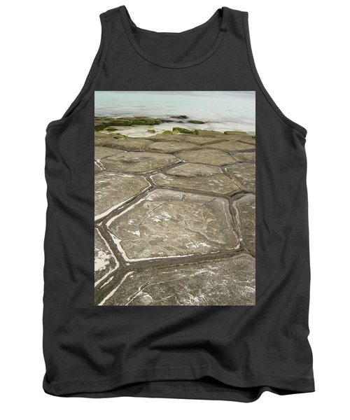 Natural Forming Pentagon Rock Formations Of Kumejima Okinawa Japan Tank Top