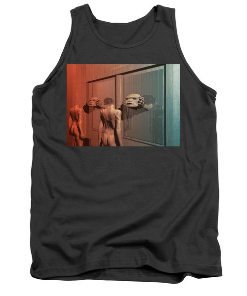 Tank Top featuring the digital art New Faces by John Alexander