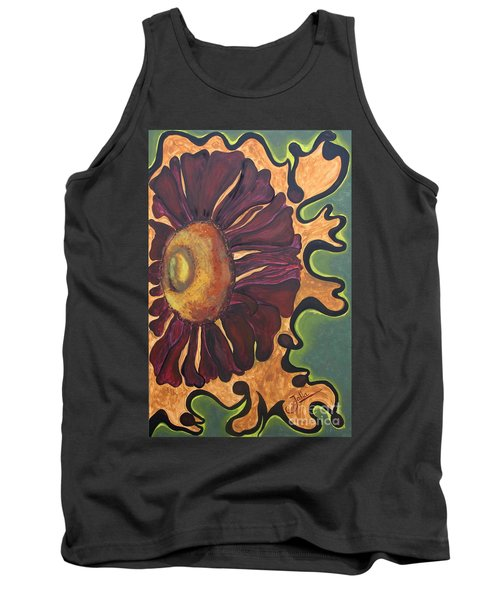 Old Fashion Flower Tank Top