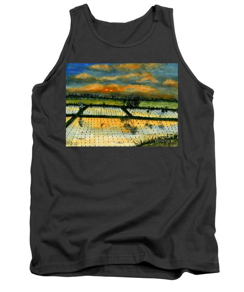 Tank Top featuring the painting On The Way To Ubud Iv Bali Indonesia by Melly Terpening