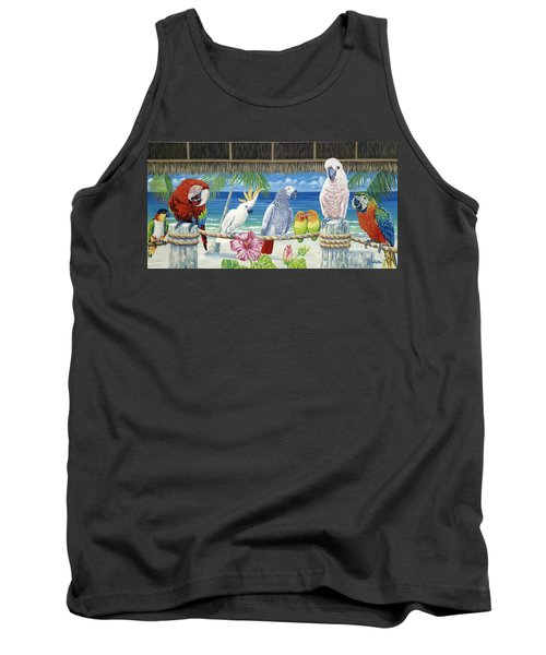 Parrots In Paradise Tank Top by Danielle  Perry