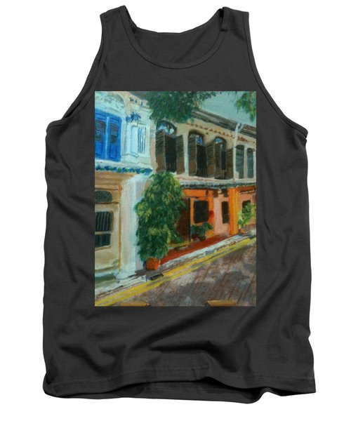 Tank Top featuring the painting Peranakan House by Belinda Low