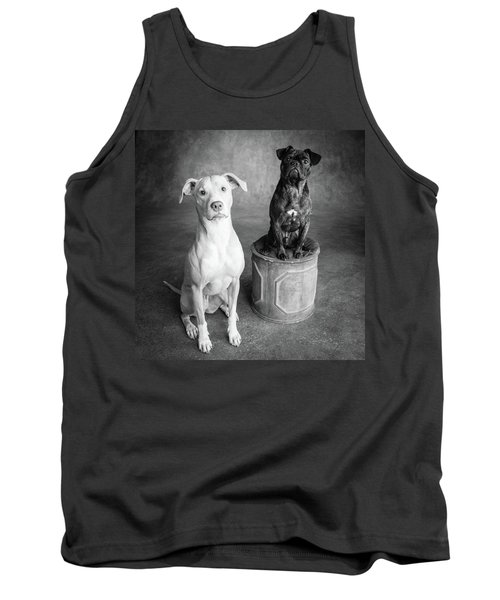 Portrait Of Lab Hound Mix Dog And Pug Tank Top