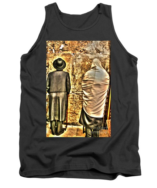 Tank Top featuring the photograph Praying At The Western Wall by Doc Braham
