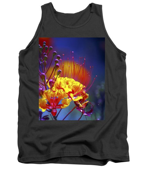 Red Yellow Blossoms 10197 Tank Top by Jerry Sodorff