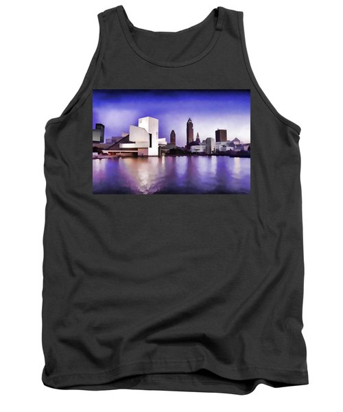 Tank Top featuring the photograph Rock And Roll Hall Of Fame - Cleveland Ohio - 3 by Mark Madere