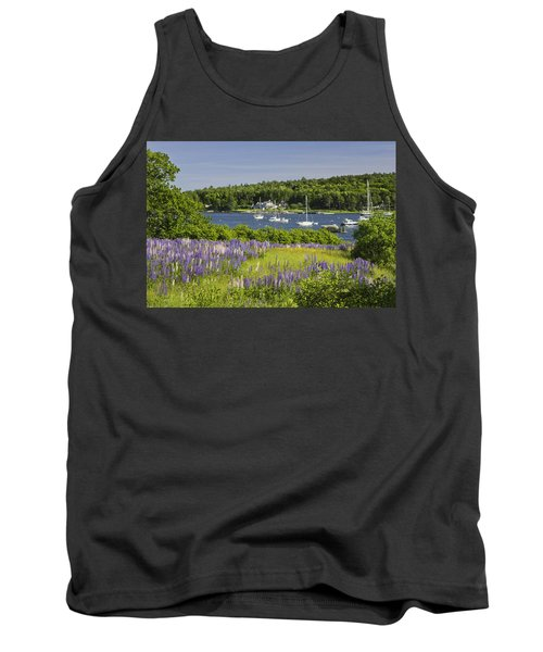 Round Pond Lupine Flowers On The Coast Of Maine Tank Top