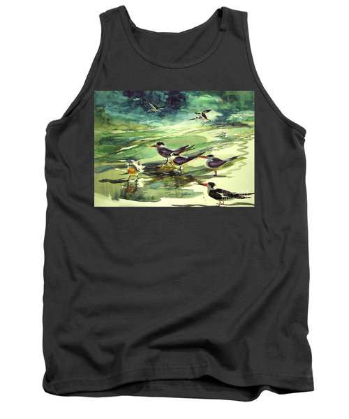 Royal Terns And Black Skimmers Tank Top
