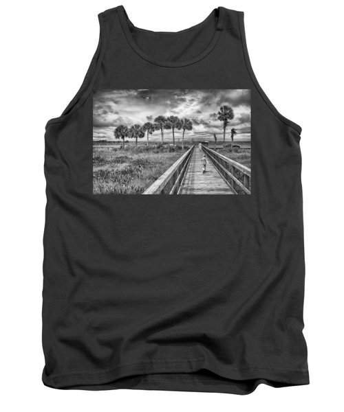 Tank Top featuring the photograph Running by Howard Salmon