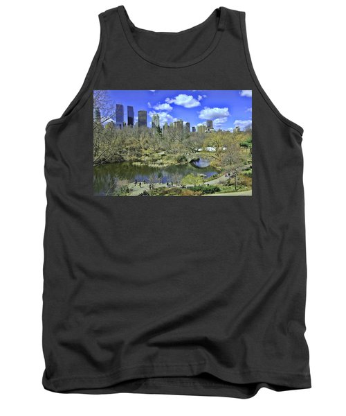 Springtime In Central Park Tank Top by Allen Beatty