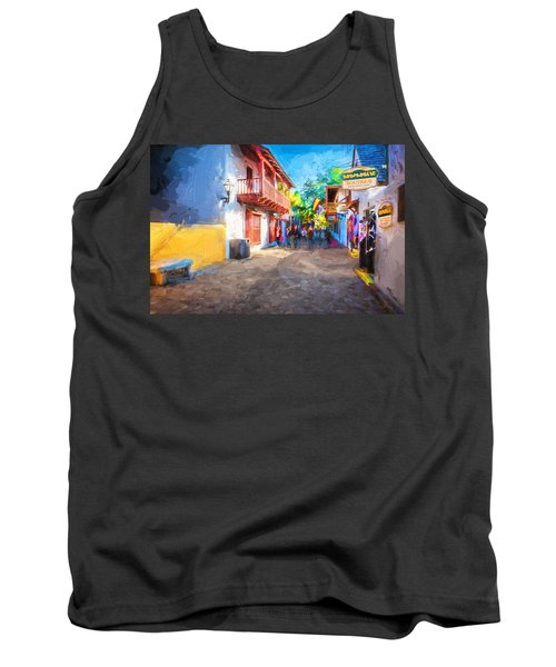 St George Street St Augustine Florida Painted Tank Top