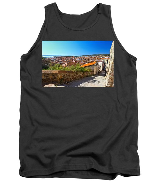 stairway and ancient walls in Carloforte Tank Top by Antonio Scarpi