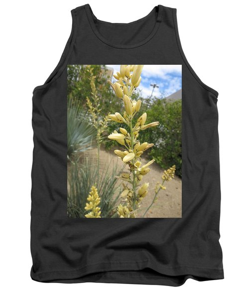Tank Top featuring the photograph 1 String Flowers    Photographed Las Vegas May 2014 by Navin Joshi