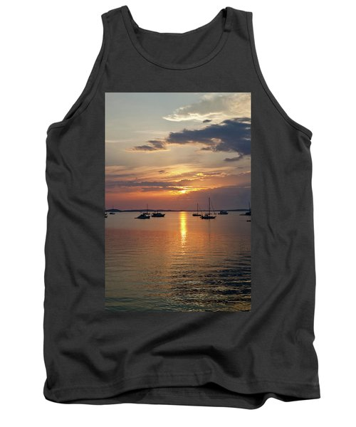 Sunset Over Caribbean Sea, Georgetown Tank Top