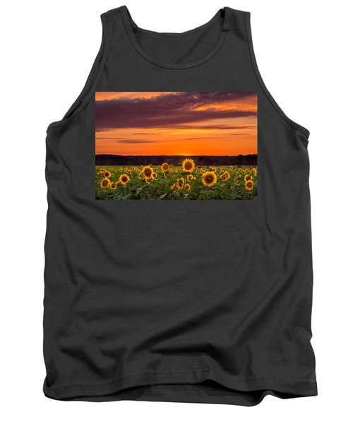 Sunset Over Sunflowers Tank Top