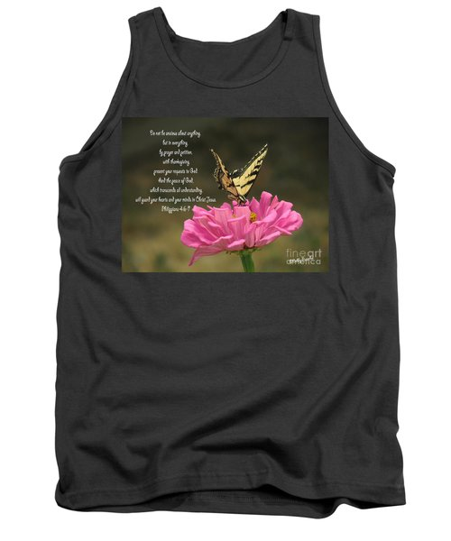 Swallowtail On A Zinnia Tank Top