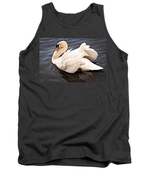 Tank Top featuring the photograph Swan One by Elf Evans