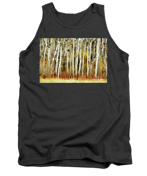 Tank Top featuring the photograph The Birches by Andrea Kollo