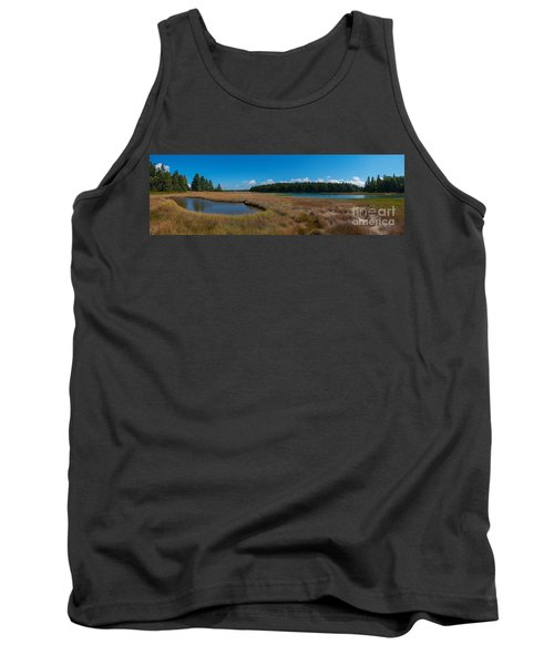 Thompson Island In Maine Panorama Tank Top
