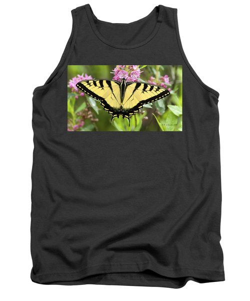 Tiger Swallowtail Butterfly On Milkweed Flowers Tank Top